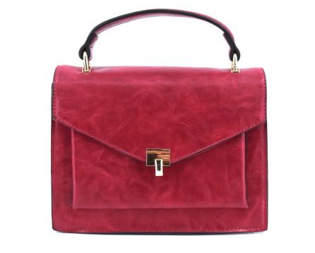 Dámská kabelka crossbody - tmavě červená