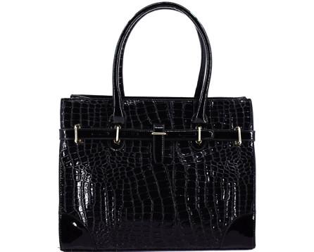 Luxusní dámská lakovaná kabelka