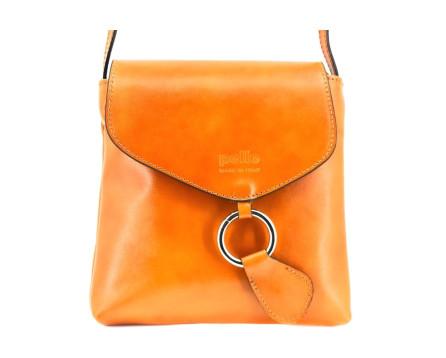 Dámská kožená kabelka s klopnou (crossbody) Arteddy