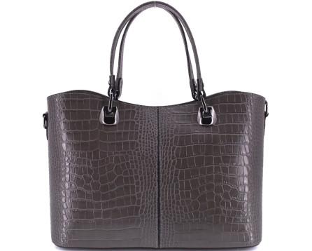 Dámská kožená kabelka croco