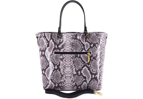 Moderní dámská kožená kabelka Arteddy s hadím vzorem