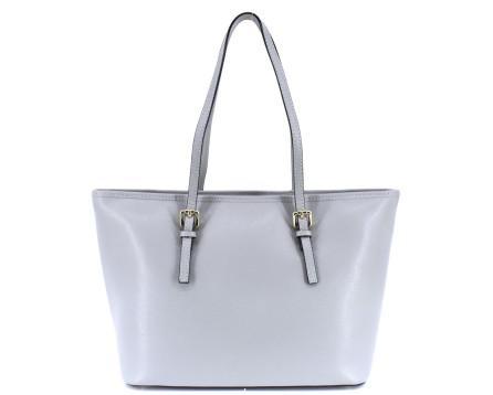 Moderní dámská kožená kabelka Arteddy - světle šedá