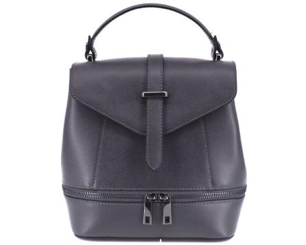 Dámská kožená kabelka/batůžek Arteddy - tmavě šedá