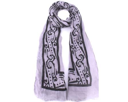 Moderní dámský šátek - šedá