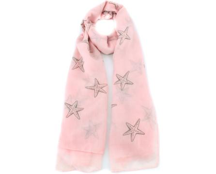 Šátek s hvězdami - lososová