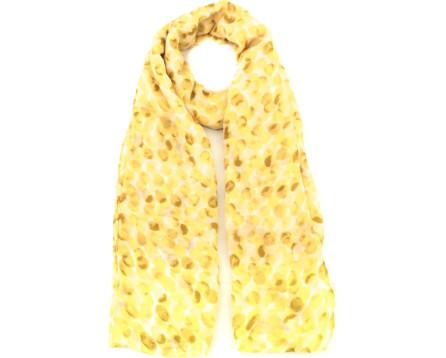 Vzorovaný šátek - žlutá