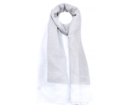 Moderní šátek - bílá/světle šedá
