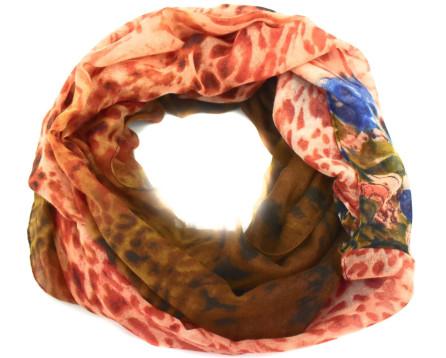 Tunelový šátek - cihlová