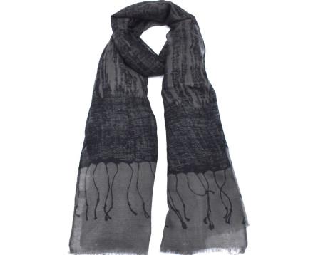 Moderní šátek - tmavě šedá