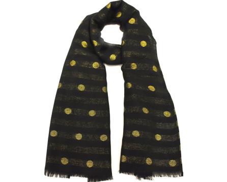 Dámský puntíkovaný šátek - černá