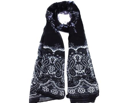 Moderní šátek Coveri - černá