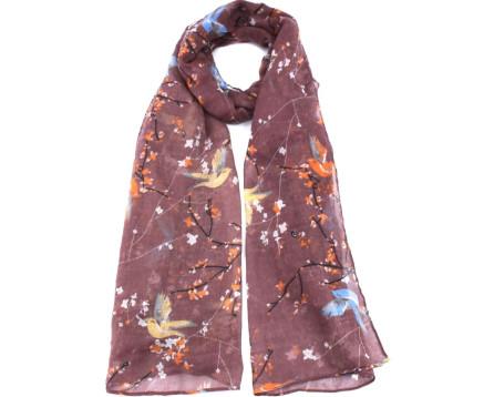 Moderní šátek Coveri - hnědá
