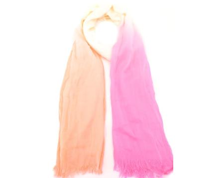 Moderní šátek - růžová/oranžová