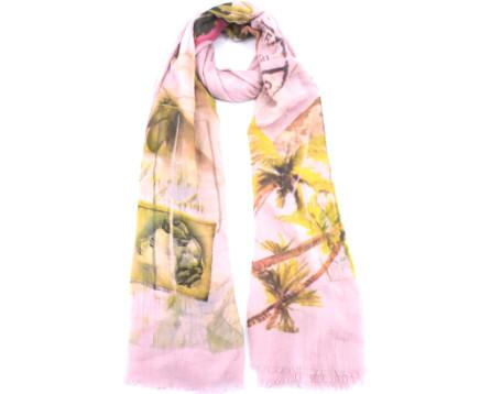 Dámský šátek s potiskem - bílá