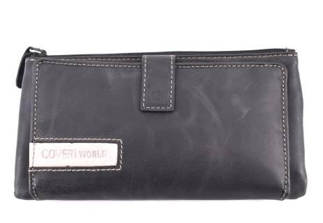 Dámská kožená peněženka Coveri World - černá