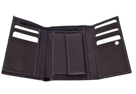 Dámská kožená peněženka Leidi Lanceti - černá