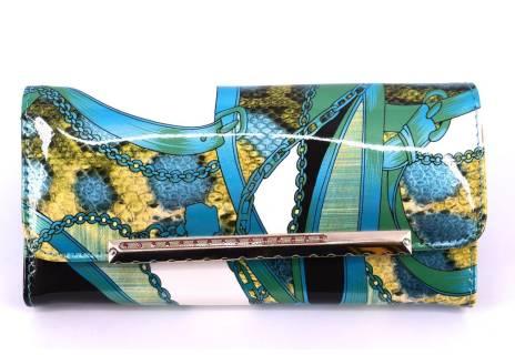 Dámská lakovaná peněženka - tyrkysová