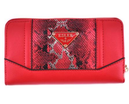 Moderní   peněženka pouzdrového typu  Eslee - červená