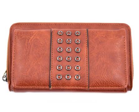 Velká moderní peněženka Arteddy hnědá