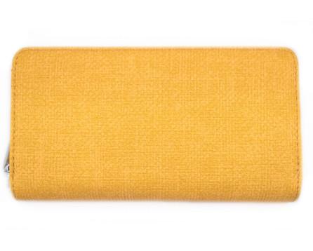 Velká peněženka  pouzdrového typu - žlutá
