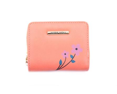Malá peněženka Miss You - lososová