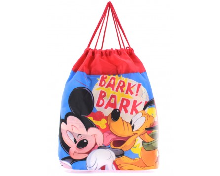 Vak na přezůvky Disney Mickey & Pluto - červená