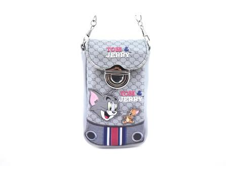 Pouzdro na telefon Tom a Jerry - šedá