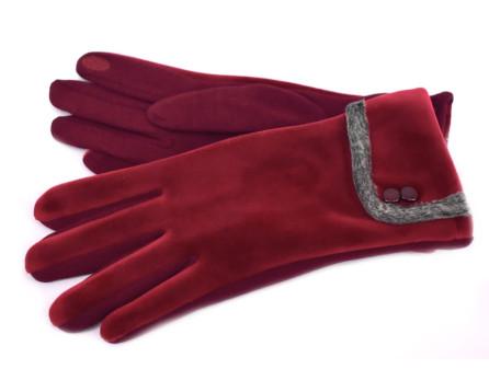 Dámské zateplené rukavice vinová
