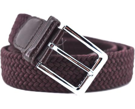 Jednobarevný  elastický opasek Arteddy - tmavě hnědá/115