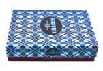 Moderní kožená peněženka z pravé kůže na šířku Charro - tmavě modrá
