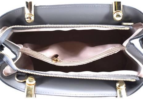 Dámská kožená kabelka Arteddy - šedá