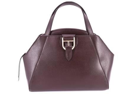 Dámská kožená kabelka Arteddy - tmavě hnědá