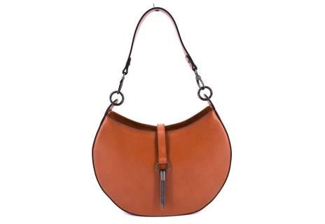 Dámská kožená kabelka Arteddy - hnědá