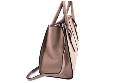 Dámská kožená kabelka Arteddy -  béžová