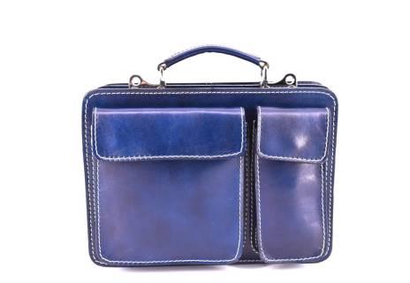 Pánská kožená taška Arteddy - modrá