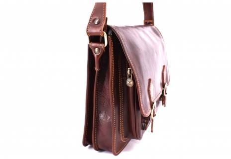 Pánská kožená taška Arteddy - hnědá