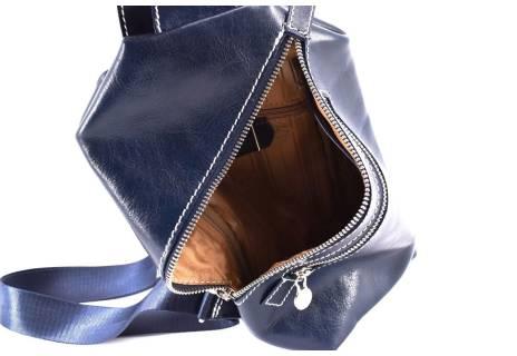 Pánská kožená crossbody Arteddy - modrá