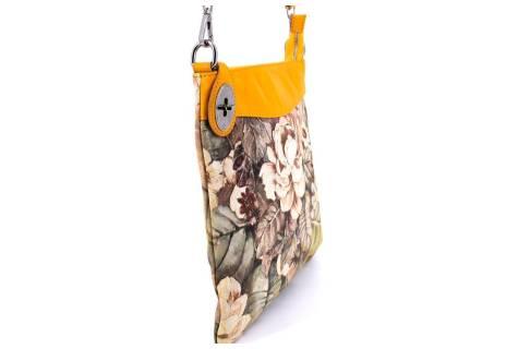 Dámská květovaná kožená kabelka crossbody Arteddy