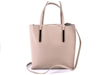 Dámská kožená kabelka Arteddy - krémová