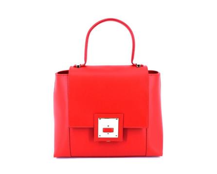Dámská kožená kabelka s klopnou Arteddy  - červená