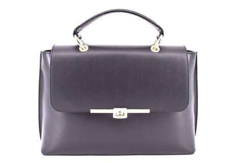 Dámská kožená kabelka s klopnou Arteddy - černá