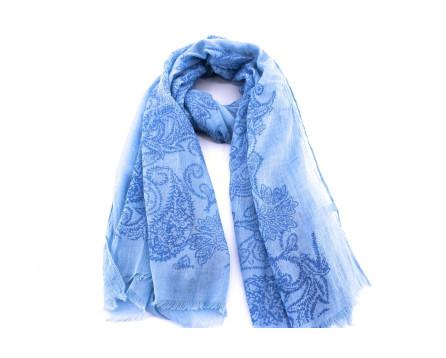 Dámský šátek s kašmírovým vzorem Arteddy - modrá