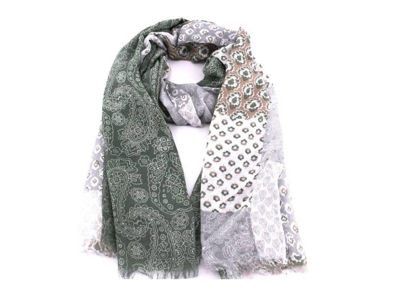 Dámský šátek s kašmírovým vzorem Arteddy - zelená  2f6870a279