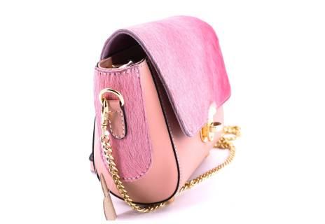 Dámská kožená kabelka crossbody Arteddy - růžová