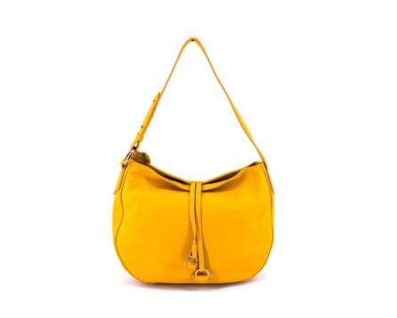 Dámská kožená kabelka Arteddy - žlutá