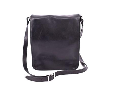 Kožená taška crossbody pánská Arteddy - černá