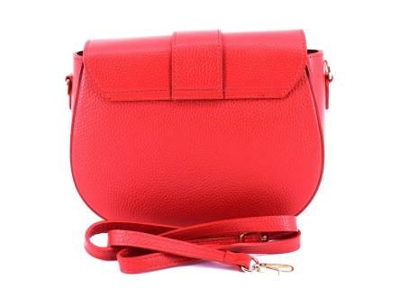 Dámská kožená kabelka crossbody s klopnou Juice - červená