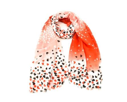 Dámský šátek se vzorem srdíčka  Arteddy