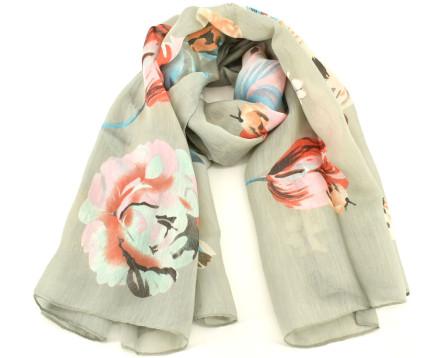 Dámský hedvábný  květovaný šátek Arteddy