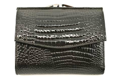 Dámská lakovaná kožená peněženka Arteddy - černá